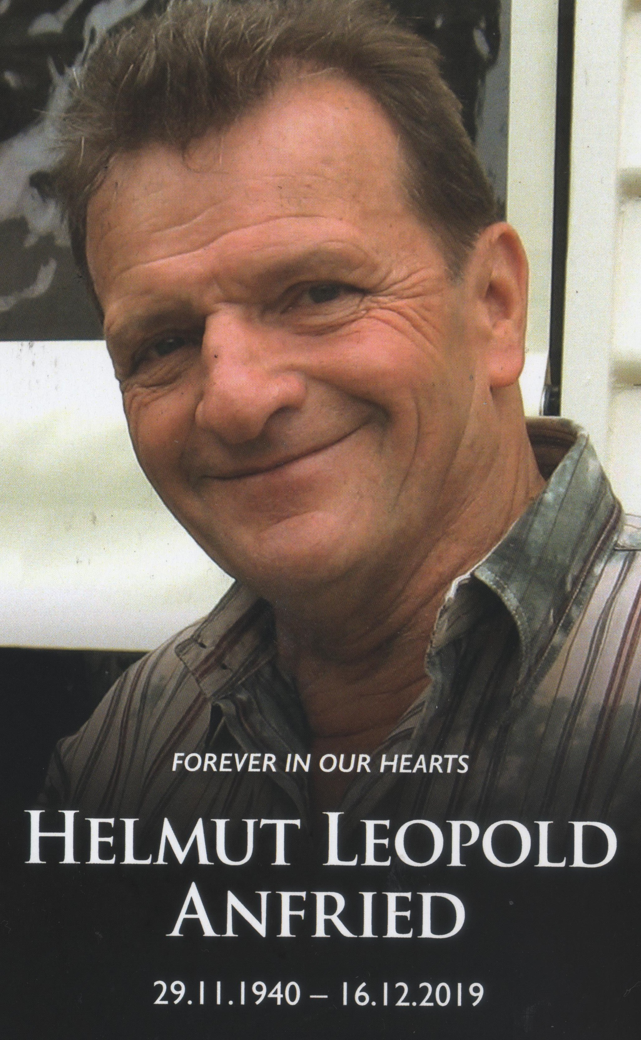 Helmut Anfried 1940 16 Dec 2019