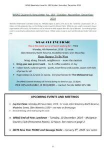 WRAG Newsletter Front Page No 183, October 2019 -page-001