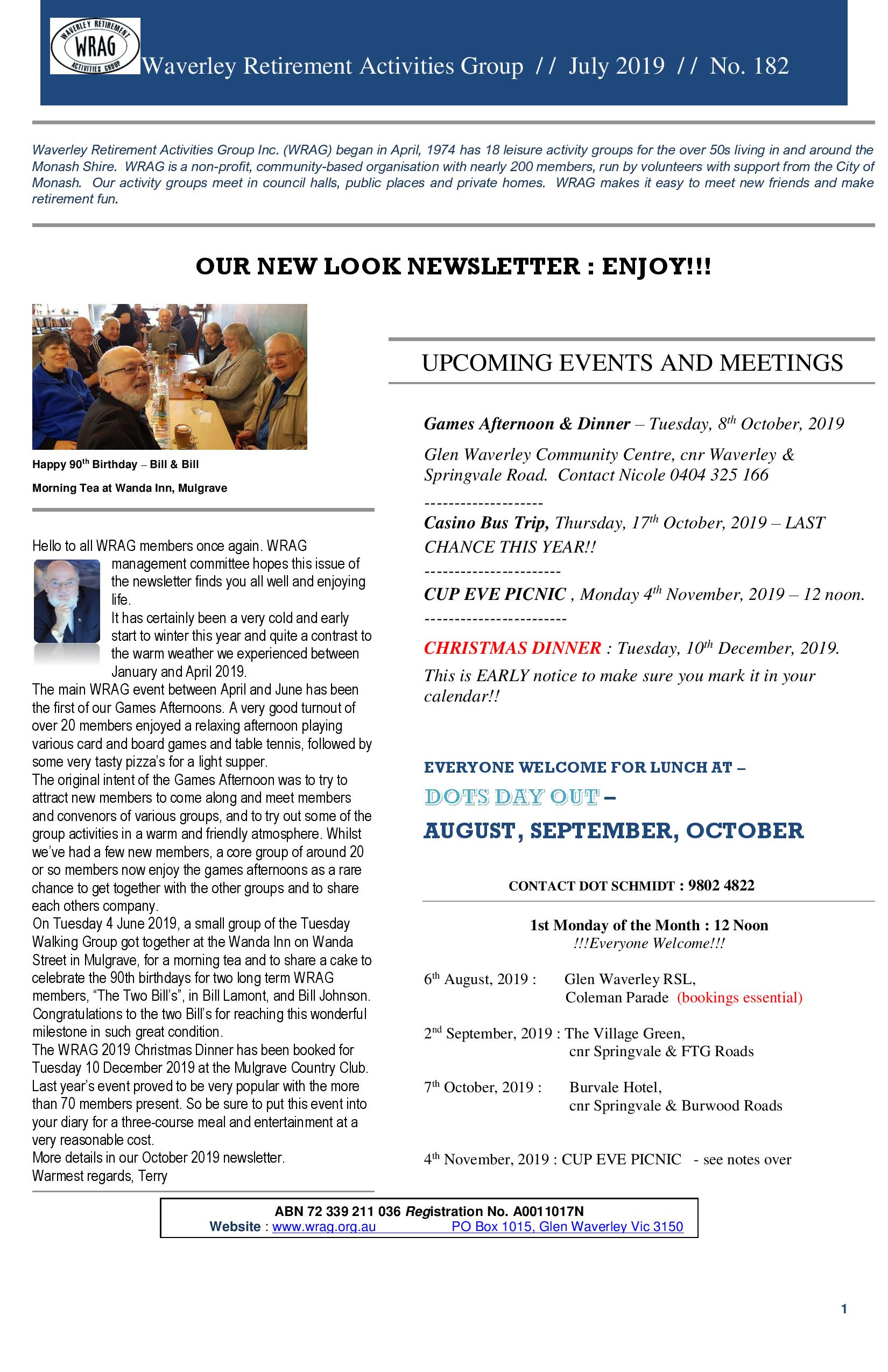 WRAG Newsletter No.182, July 2019 - eMail-page-001